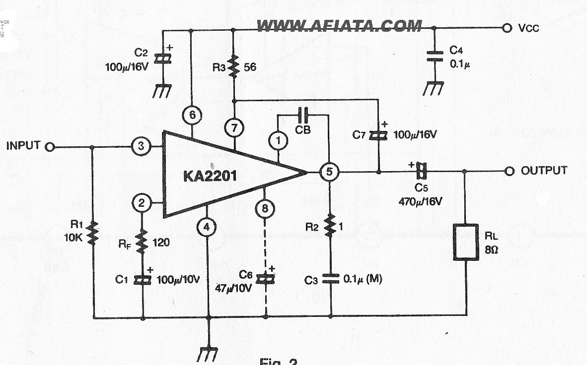 2w Audio Power Amplifier Circuit Electronic Design