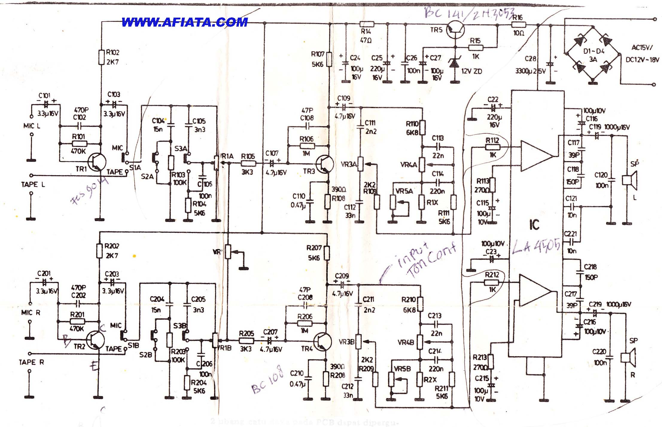 pin ic amplifier stereo 10w with tda2009 hqewnet on pinterest