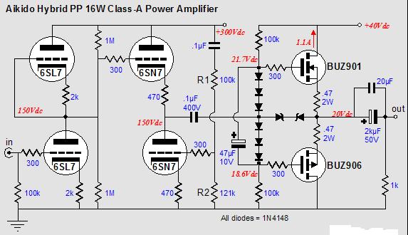 Class A Audio Power Amp Circuit